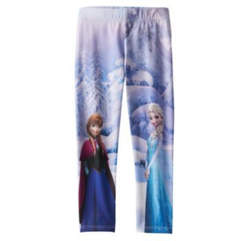 Disney Frozen Elsa & Anna Fleece-Lined Leggings by Jumping Beans - Girls 4-7