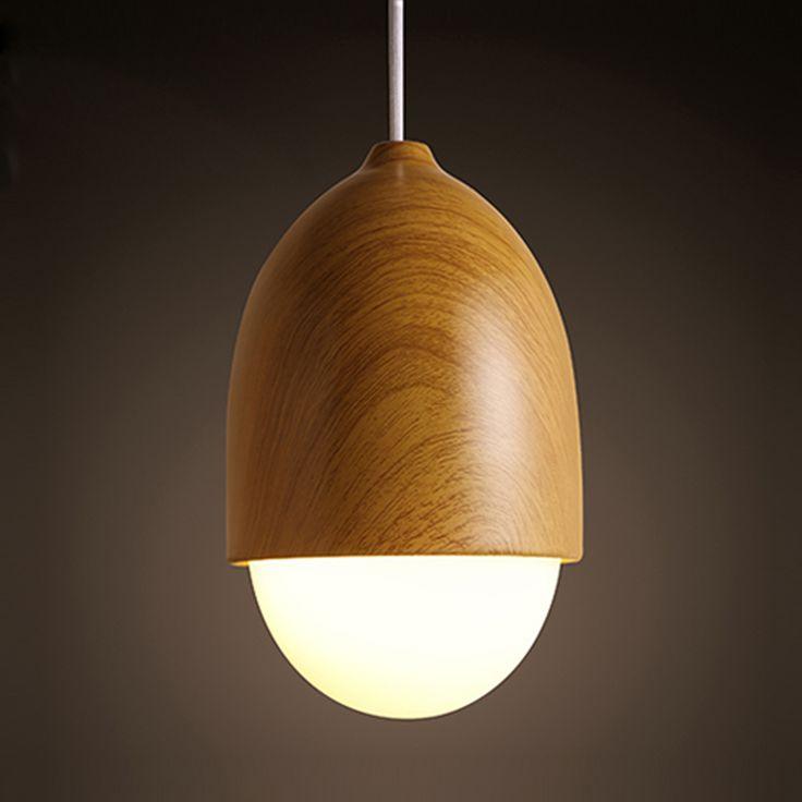 Best Fashion Japan Style Simple Modern Pendant Lamps E Led Bulbs Bedroom Counter Lamps Creative Nut Shape