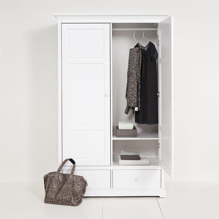 Wardrobe 2 doors white, Oliver Furniture Denmark.   www.oliverfurniture.com