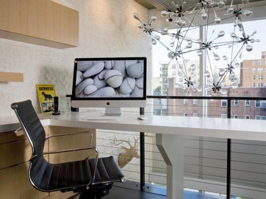 Marvelous Loft Office Glass Sculpture