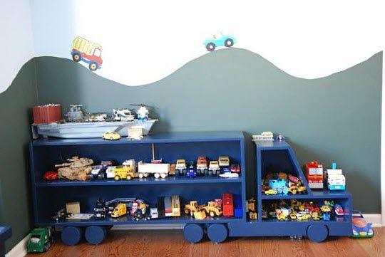 meuble de rangement camion enfant