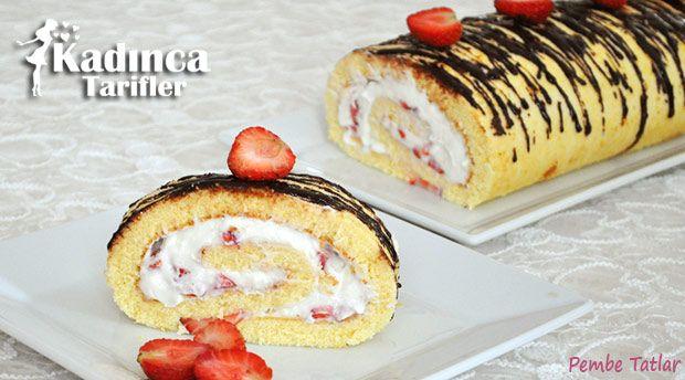 Çilekli Rulo Pasta Tarifi nasıl yapılır? Çilekli Rulo Pasta Tarifi'nin malzemeleri, resimli anlatımı ve yapılışı için tıklayın. Yazar: Pembe Tatlar
