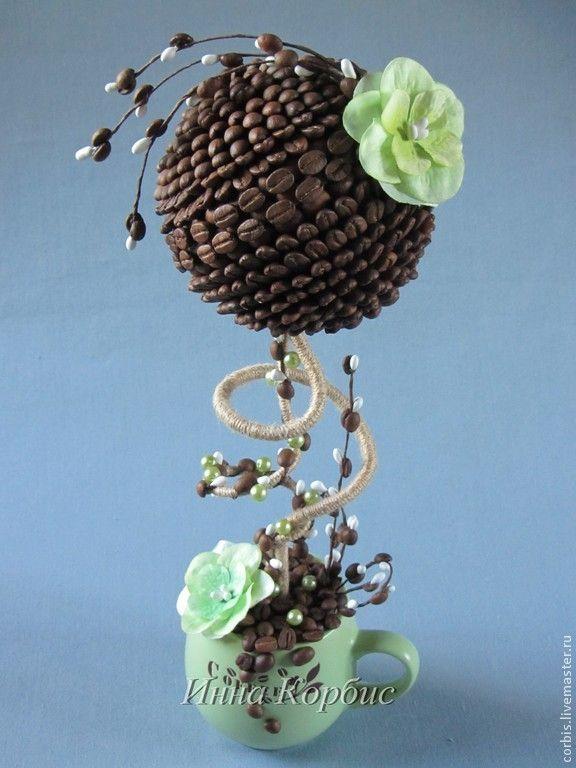 Купить Деревья ручной работы. Кофейный топиарий 3. - разноцветный, кофейное дерево, Кофейный топиарий