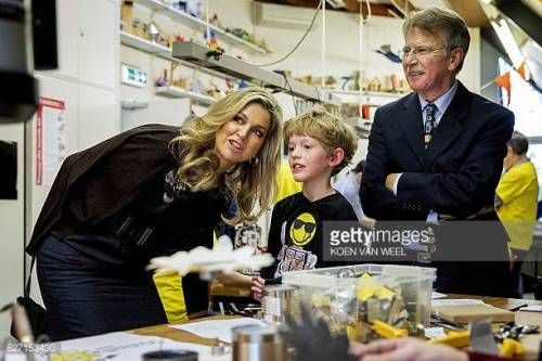 07-02 Dutch Queen Maxima (L) speaks with a child during her... #pracht: 07-02 Dutch Queen Maxima (L) speaks with a child during… #pracht