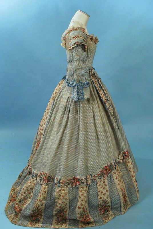 All The Pretty Dresses: 1860's sheer print dress