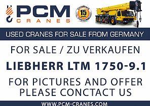 LIEBHERR LTM 1750-9.1 for sale, used mobile crane, from Germany, PCM Cranes, zu Verkaufen gebrauchter Mobilkran, Autokran, Teleskopkran, aus Deutschland