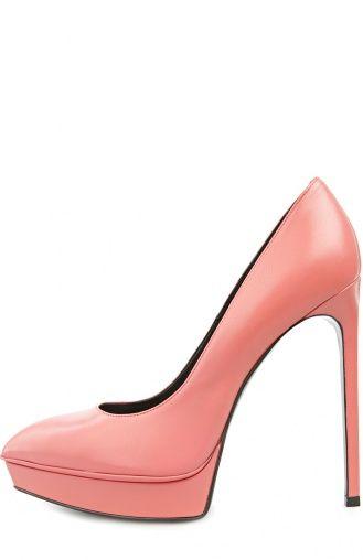 Женские розовые туфли Saint Laurent, сезон SS 2016, арт. 320245/AKP00 купить в…