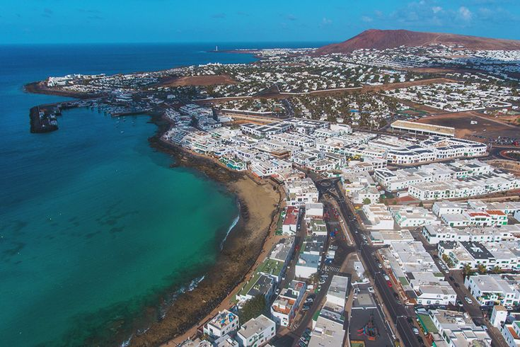 Traveling in Lanzarote - Playa Blanca from the sky - Drone