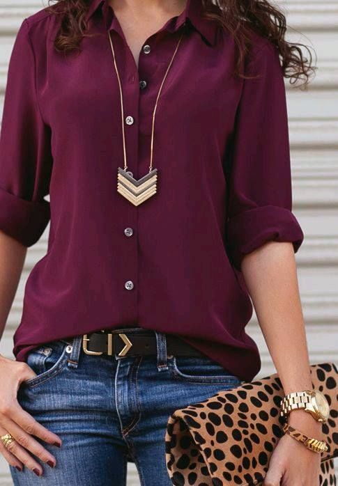 Love the color of this blouse!