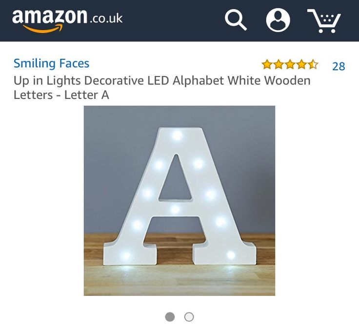Light up letters from amazon✨