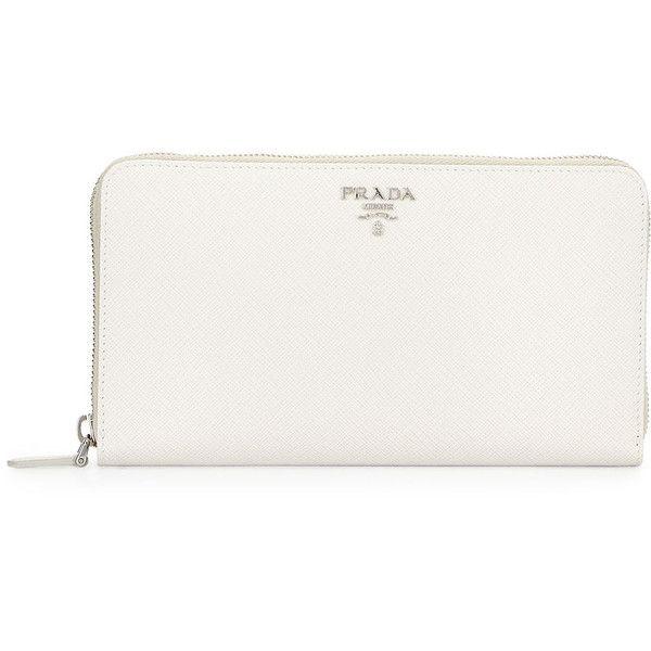 White Prada Wallet