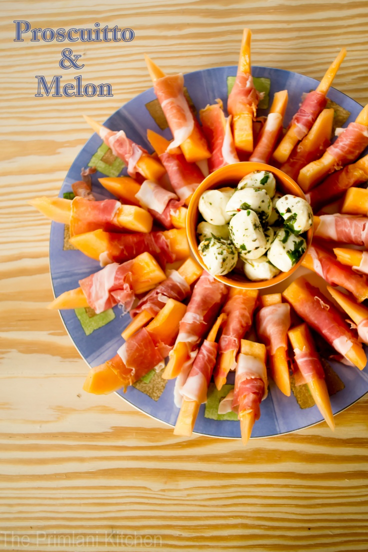 Proscuitto & Melon Appetizers, yummy for bbq's!