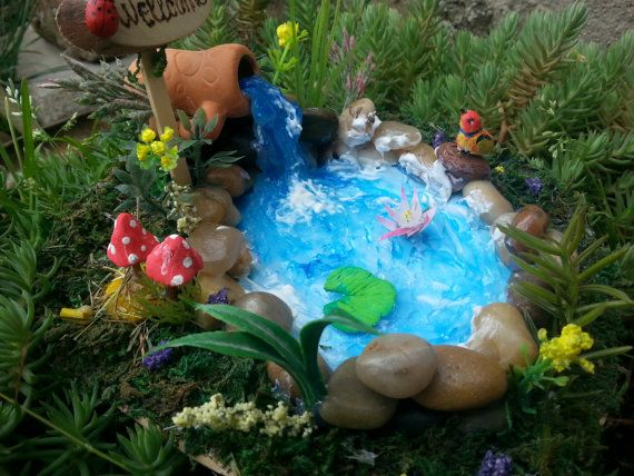 Hey, I found this really awesome Etsy listing at https://www.etsy.com/listing/292627199/fairies-garden-pond-garden-accessories