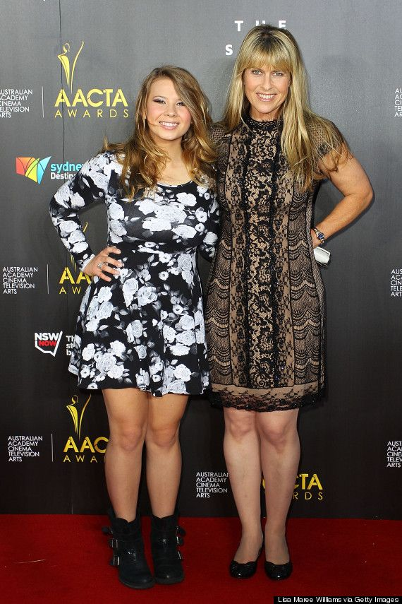 """Bindi Irwin in 2014 alongside her mum. I admire both of these strong women. Follow your dreams whatever they may be. Steve Irwin, otherwise known as """"The Crocodile Hunter,"""" died in 2006 after being pierced in the chest by a stingray. He was 44 years old. Following in her father's footsteps, Bindi Irwin strives to promote wildlife and Australia Zoo. v@e"""
