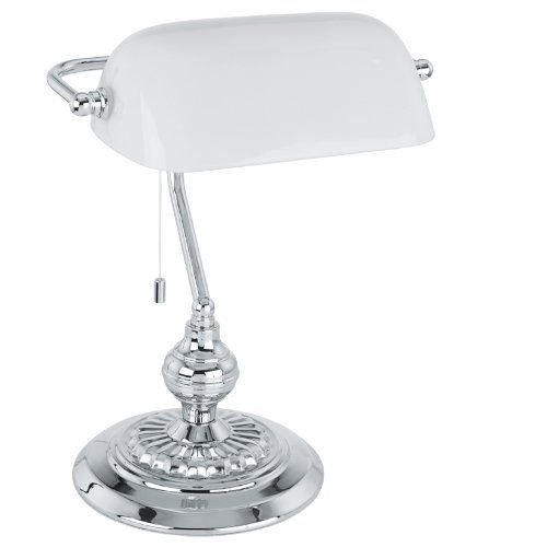 340 kr. Bankers Lamp Finish: Chrome, Shade Colour: White Eglo http://www.amazon.co.uk/dp/B007KMEGV0/ref=cm_sw_r_pi_dp_zjY3wb0SRWAS2