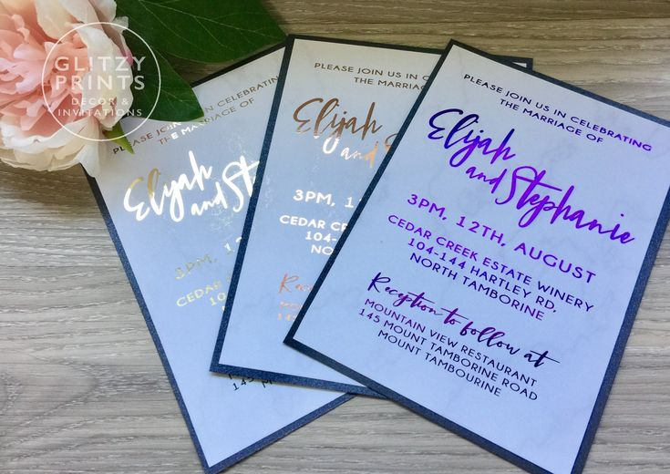 Gold Foil Wedding Invitation, Marble & Gold, Rose Gold Invitation, Gold Foil Invitation Sample, Printed Invitations, Christening by GlitzyPrints on Etsy Impress your guests with this bespoke gold foil invitation.  Perfect for a glamorous wedding or any other event.