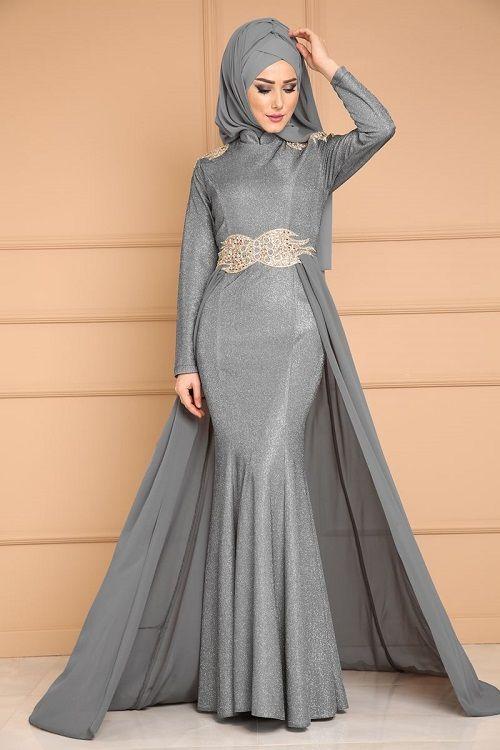 a4d38db752f78 Dar Etek Tesettür Abiye Elbise Modeli | şık türban | Elbise ...