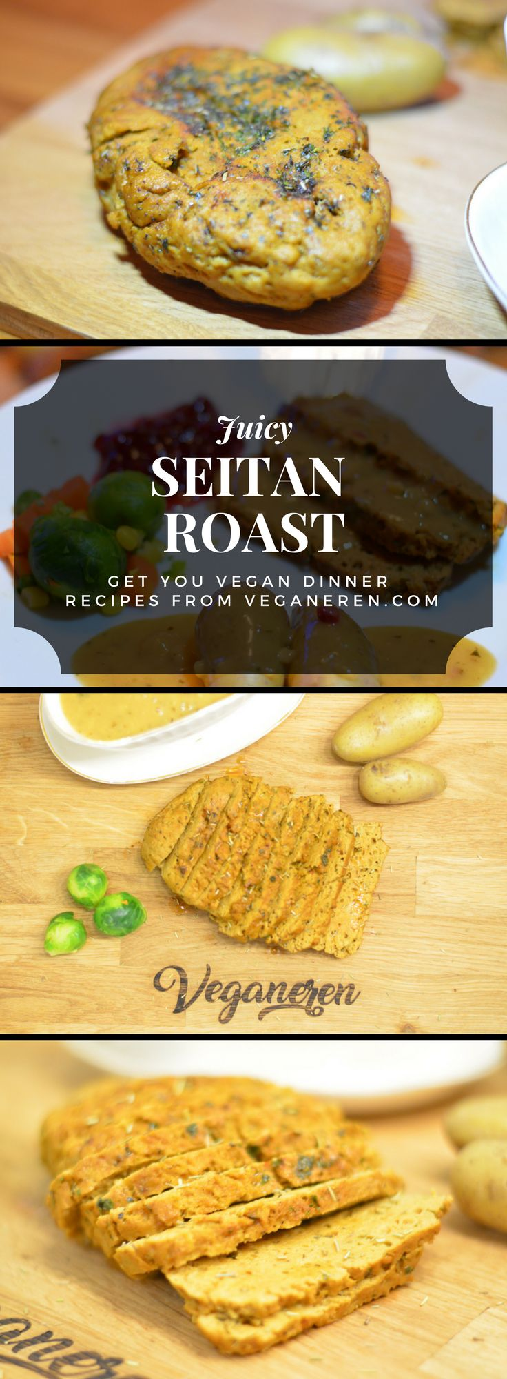 Happy New Year! We made a delicious New Years dinner, seitan roast with herbed cream sauce, potatoes and vegetables. Perfect for a feast. Hope you are all enjoying the last day in 2017 and we wish you all the best for 2018. It's going to be a GREAT year! Visit the blog for recipes.