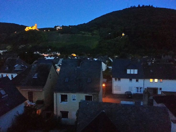 View of Landshut castle from our room at Burblick hotel in Bernkastel- Kues, Germany