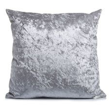 Inject a luxurious touch to your sofa or bed with our gorgeous Silver Crushed Velvet Cushion. This super- soft cushion adds a romantic feel to your living space, and works incredibly well with red and grey interior design schemes or neutral palettes. The cover itself is removable and washable, making it a wonderfully practical item, too. <BR> <BR>Cover: 100% polyester. Filling 100% polyester. Cover washable at 40° <BR> <BR>Warning: Keep away from fire.