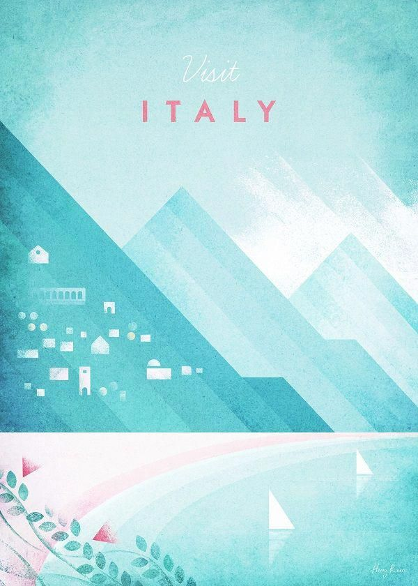 Vintage Travel Posters Italy Displate Artwork By Artist Henry Rivers Part Of A Set Based On Vintage Trav Italy Poster Travel Posters Vintage Travel Posters