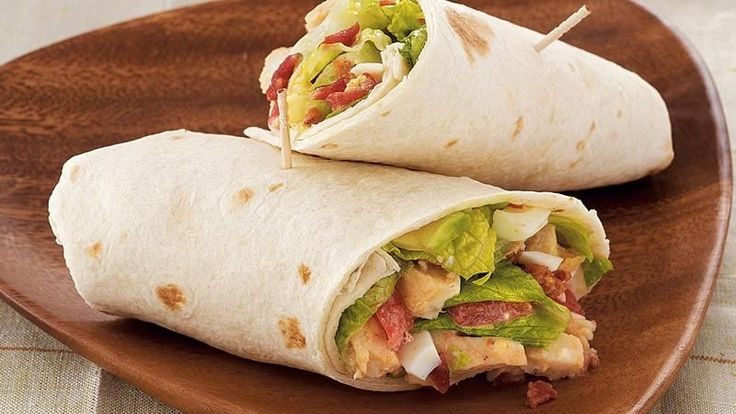 Enjoy all the great flavors of a traditional Cobb salad, wrapped up in a tortilla. It's a tasty lunch or supper in 15 minutes!