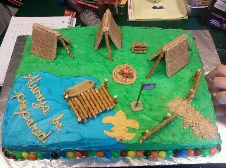 Boy Scout Theme Creative Cakes Pinterest Boys Boy