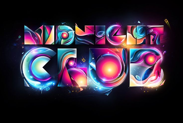 Midnight Club by Rik OostenbroekGraphic Design, Graphics Design Inspiration, Pretty Colors, Midnight Club, Illustration, Typography Design, Design Typography, Rik Oostenbroek, 3D Typography