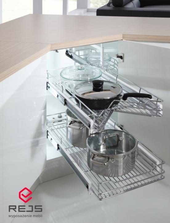 Ładowność systemu 40 kg to możliwość przechowywania garnków w jednym miejscu, którą daje Ci CORNER COMBO.