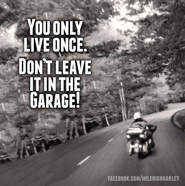 Tattoo Quotes You Only Live Once But If Done Right: 75 Best Images About Motorcycle Rider's Quotes On