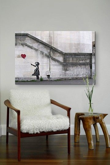 There Is Always Hope Balloon Girl by Banksy Canvas Print by Banksy Street Art on @HauteLook