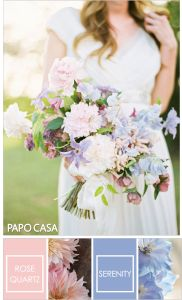 rosa e azul cores para casamento