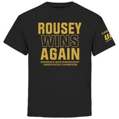 Youth Ronda Rousey Black UFC 190 Rousey Always Wins T-Shirt                                                                                                                                                                                 Más