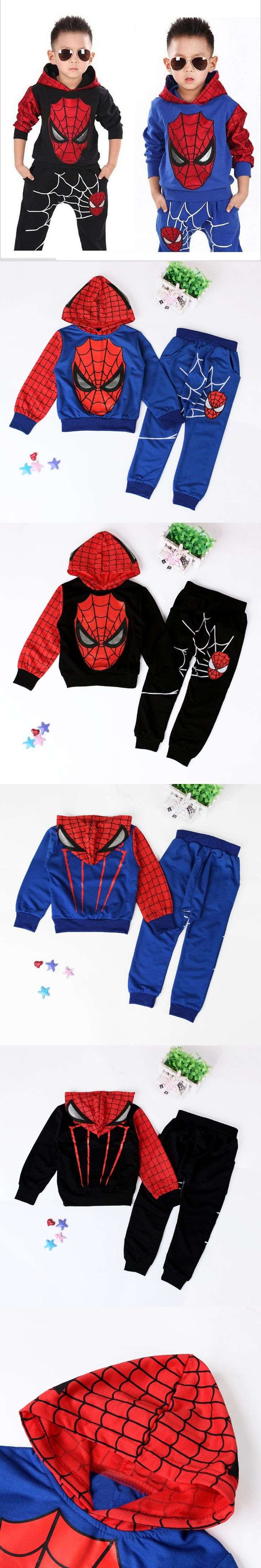 Spiderman Children Boys Sport Suit 2-6 Years Kids Clothing Set Spider Man Baby Boys Clothes Set Spring Summer Tracksuits For Boy