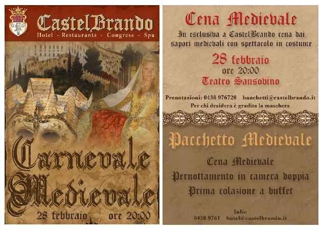 #Carnevale #Medievale a #CastelBrando venerdì 28 febbraio!  #Medieval #Carnival