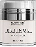 Limited Time Offer on Majestic Pure Retinol Cream, Moisturizing Cream for Face or Eye Area Reduces the Appearances of Wrinkles and Redness, With Retinol, Hyaluronic Acid and Green Tea - 1 Oz.