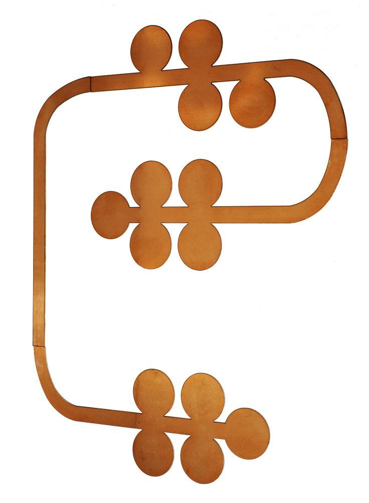 VINE - Decoro in lastra di rame a parete; Design: Susan Bradley