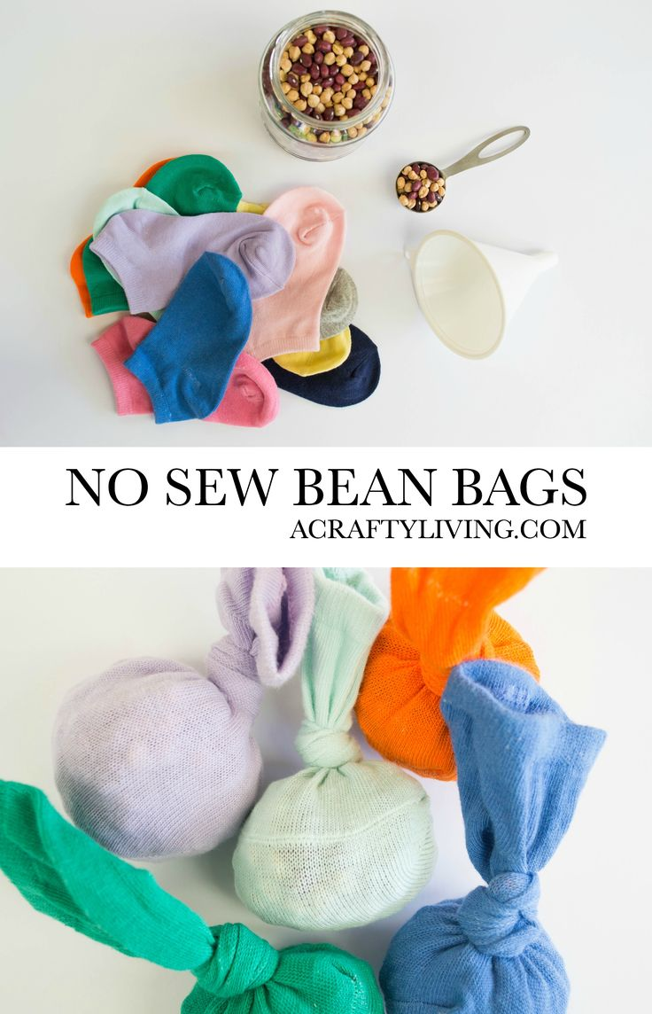 No Sew Bean Bags with Odd Socks.    Gloucestershire Resource Centre http://www.grcltd.org/home-resource-centre/