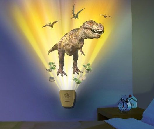 Create your own Jurassic bedroom with the dinosaur projecting wall lamp! Offering the stunning visuals of a land before time, the dinosaur projecting wall lamp...