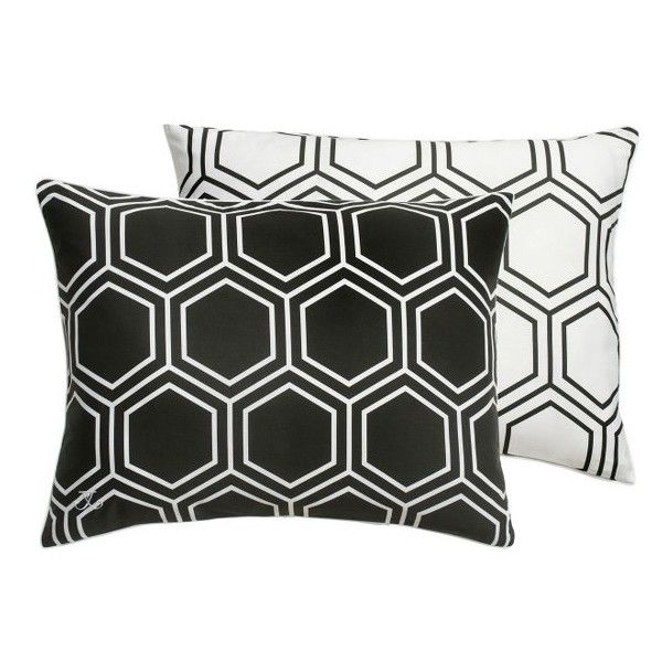 Jill Rosenwald Blackpoint Hex Sham ($24) ❤ liked on Polyvore featuring home, bed & bath, bedding, bed accessories, black onyx, black pillow shams, black shams, black bedding, jill rosenwald and contemporary bedding