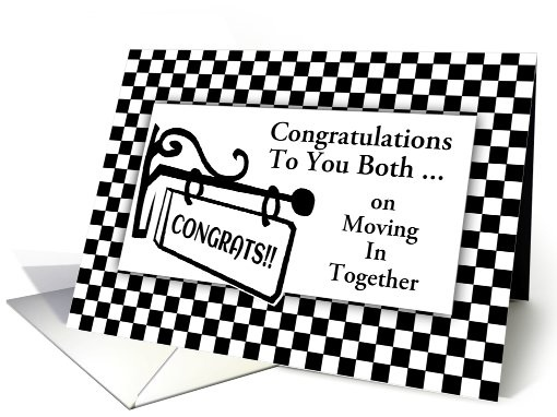 Congratulations-Moving In Together-Sign-Custom Card