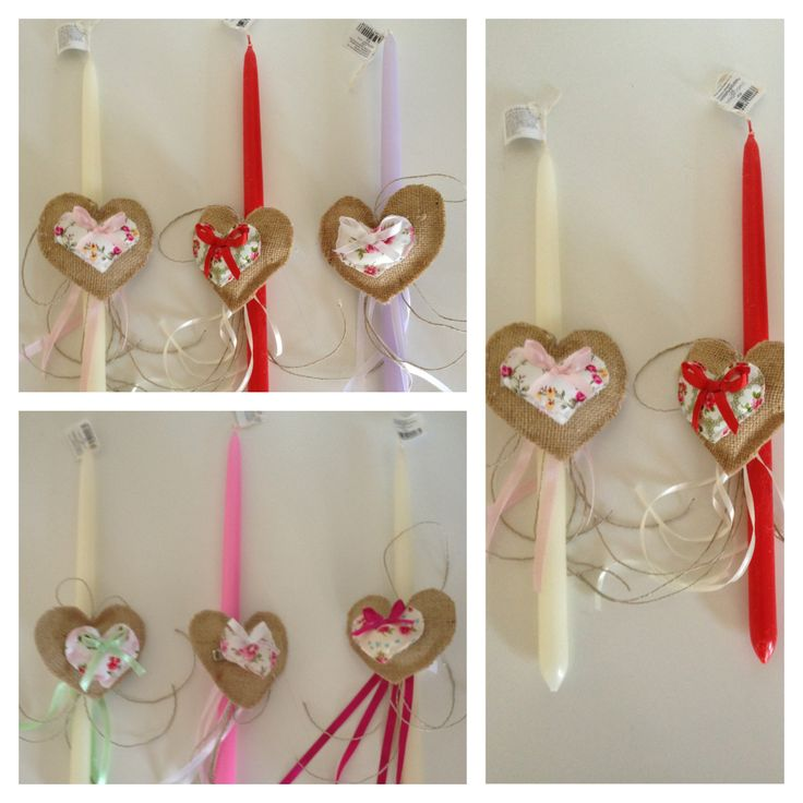 Heart Easter Candles