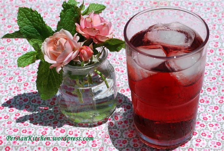 Sharbateh Albaloo ~ Persian Sour Cherry Drink - one of my husband's favorites.  It is too sour for me.