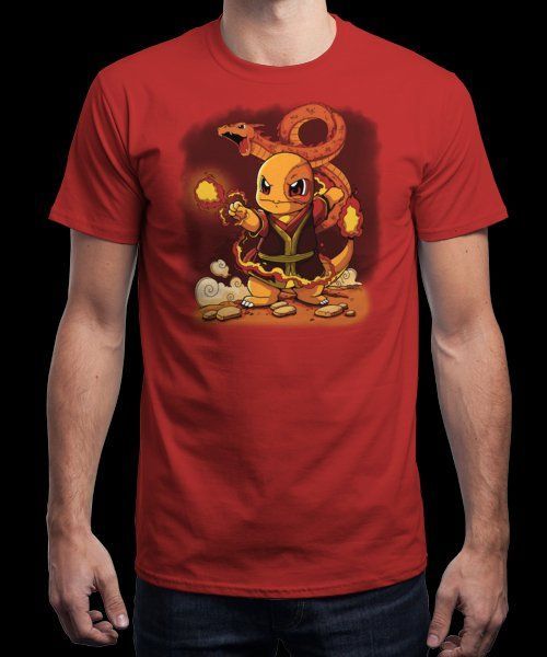 """Fire Bender"" is today's £9/€11/$12 tee for 24 hours only on www.Qwertee.com Pin this for a chance to win a FREE TEE this weekend. Follow us on pinterest.com/qwertee for a second! Thanks:)"