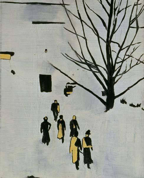 Luc Tuymans, Wandelin, 1989, huile sur toile   LAM, exposition Luc Tuymans, prémonitions