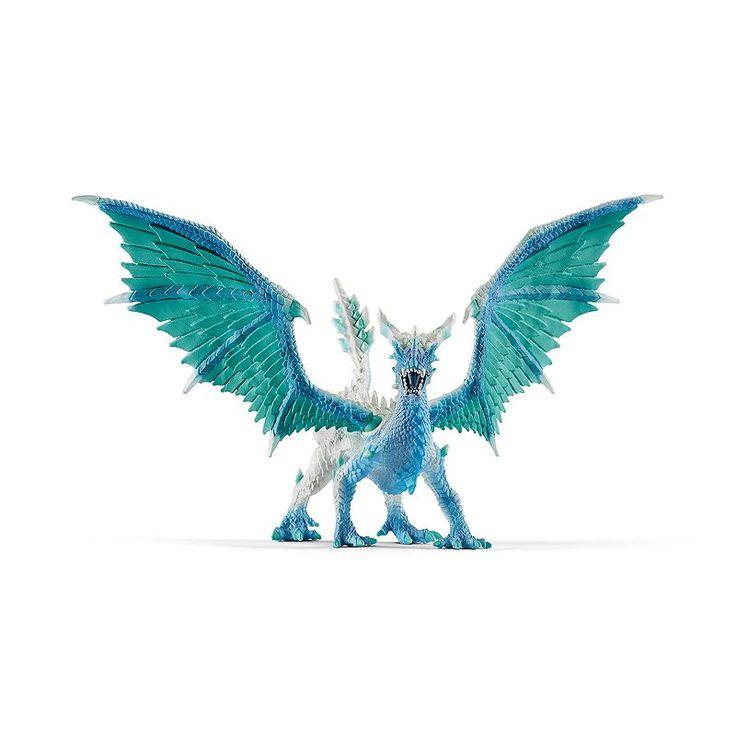 Eldrador Dragon Ice Hunter Figure by Schleich, Multicolor