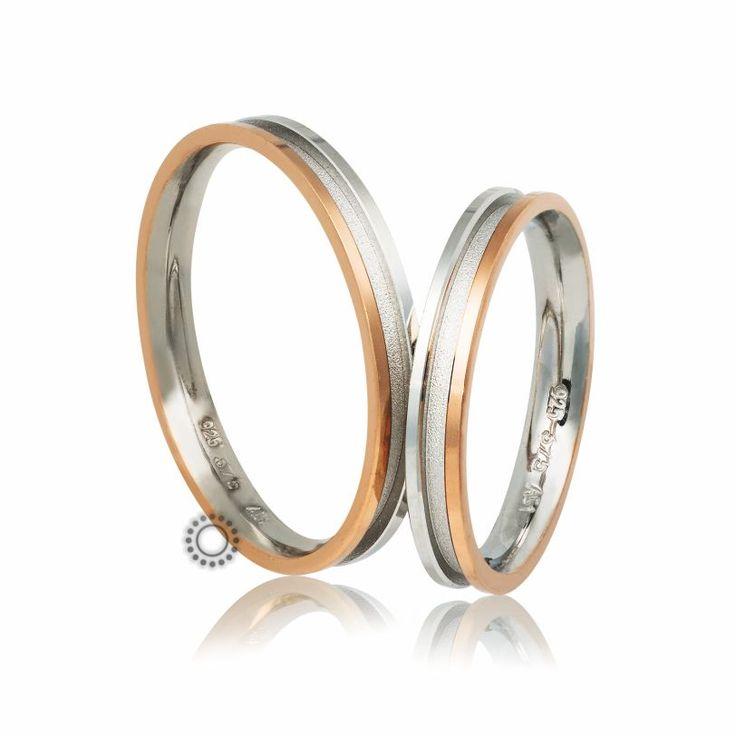 Βέρες γάμου Στεργιάδης B-2-RW | Ιδιαίτερες ανατομικές λεπτές ροζ & λευκόχρυσες βέρες με εσωτερικό επίπεδο λούκι σε ματ φινίρισμα | Βέρες ΤΣΑΛΔΑΡΗΣ #βέρες #βερες #γάμου