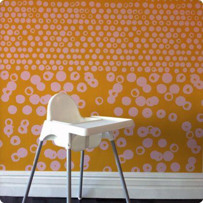 Kristen Doran removable wallpaper - dipped dots