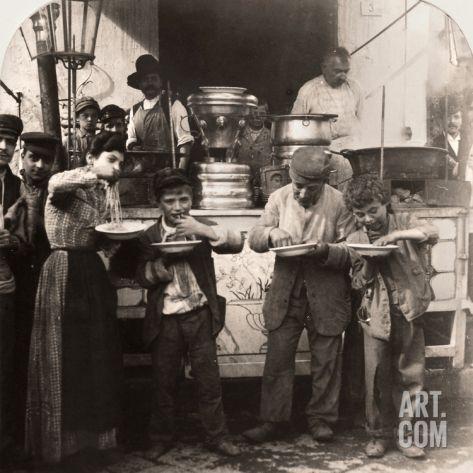 Italian Vintage Photographs ~ #Italy #Italian #vintage #photographs ~ Spaghetti Vendor, C1908