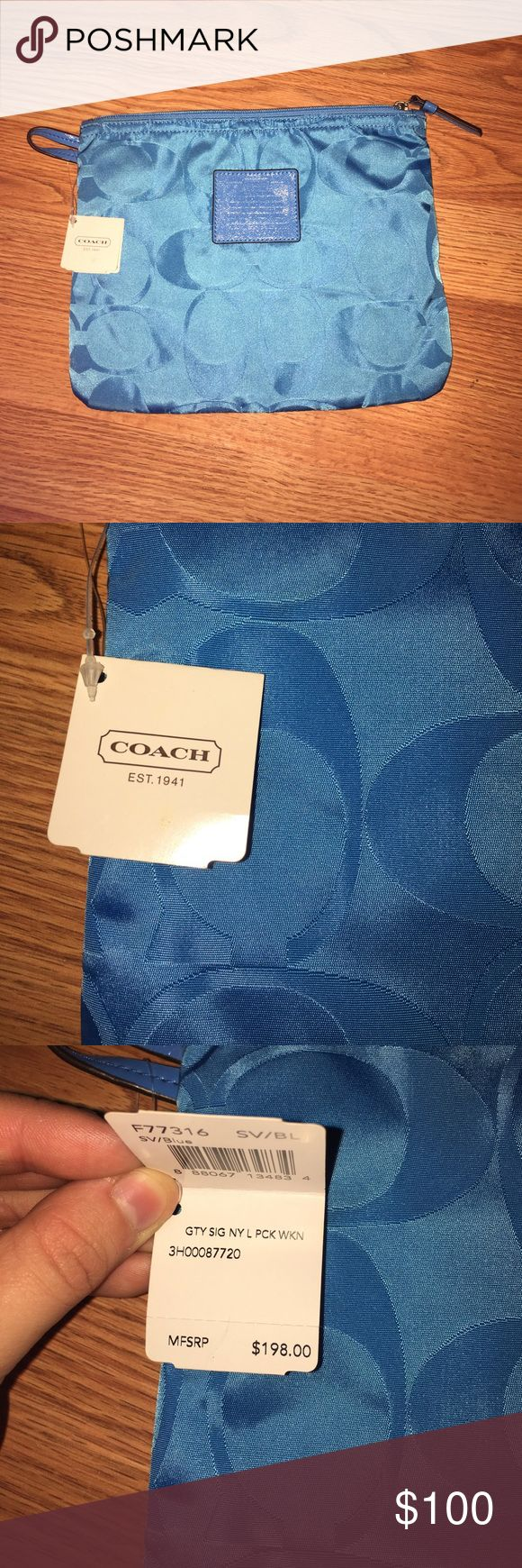 Coach travel bag Blue coach travel bag! Brand new! Never used! Tags still attached! Just cleaning out my closet!  :) Coach Bags Travel Bags